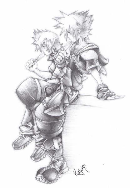 Sora and Roxas by KHWorld