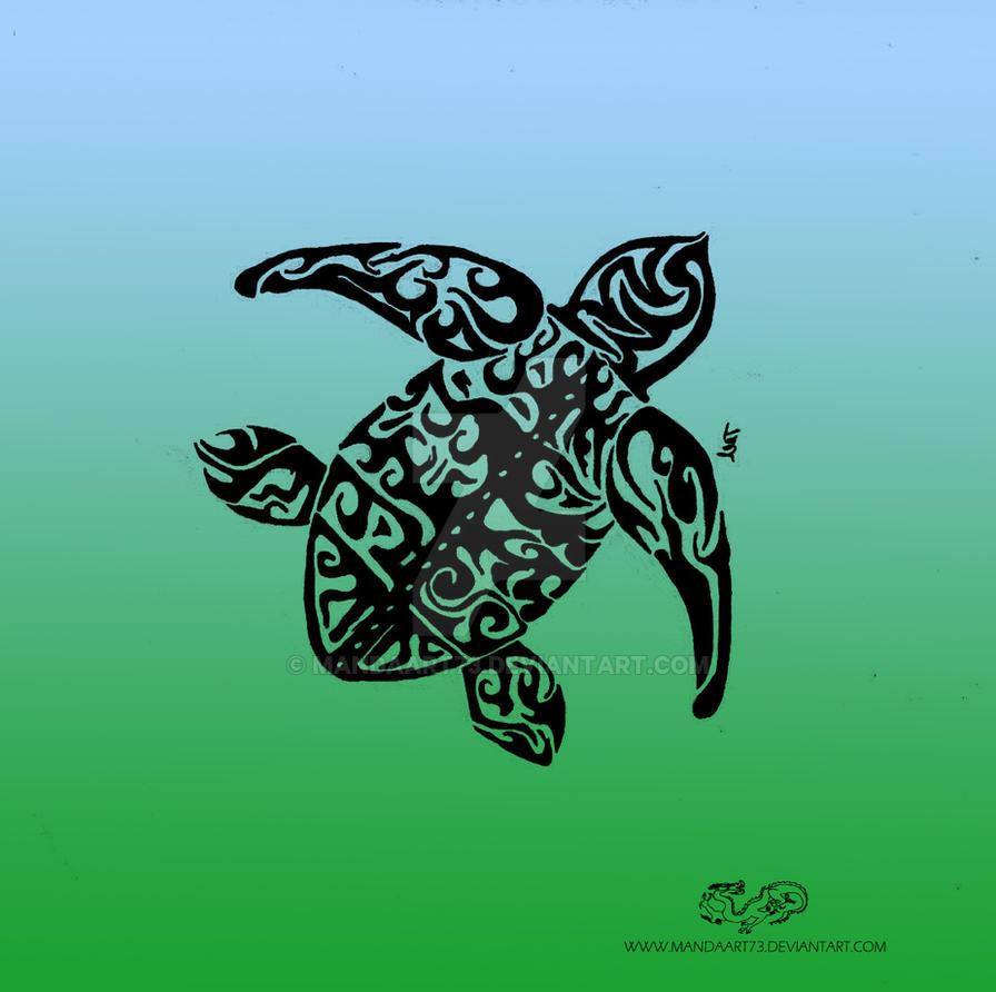 Tribal Sea Turtle 1 by Mandaart73 on DeviantArt