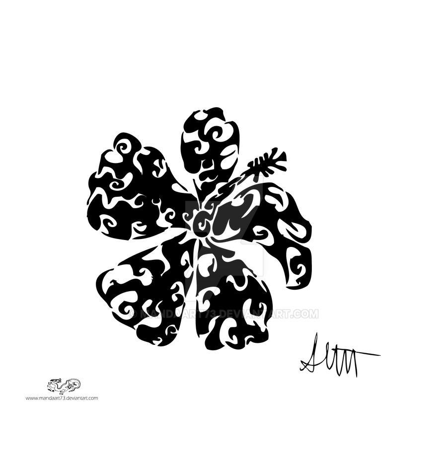 tribal hawaiian flowers tattoos wwwimgkidcom the