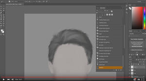 Painting hair with Photoshop tutorial