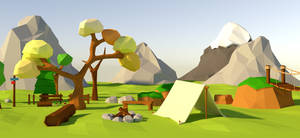 Low poly game art with Blender
