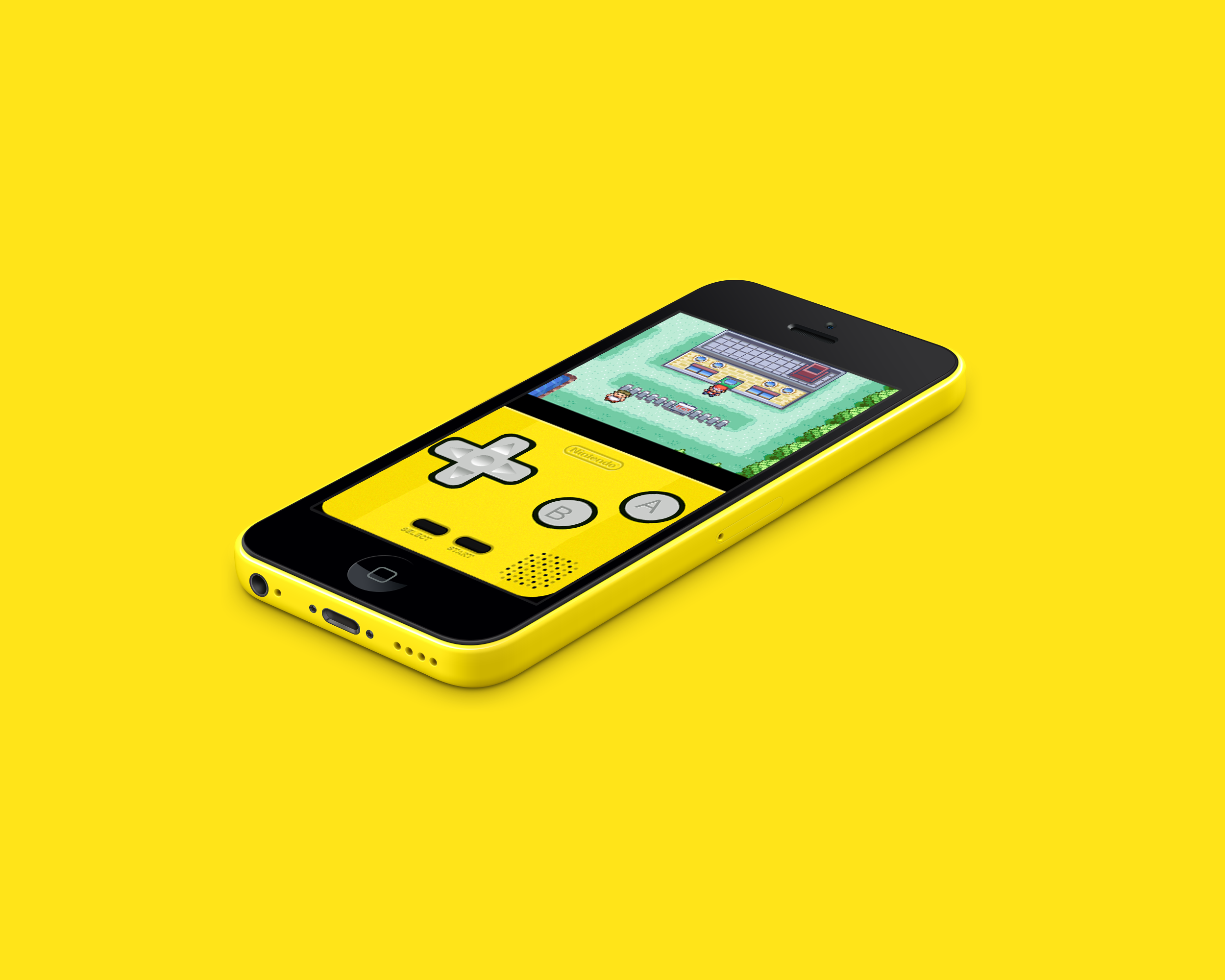 Iphone 5c Gba Yellow By Vitalovitalo On Deviantart