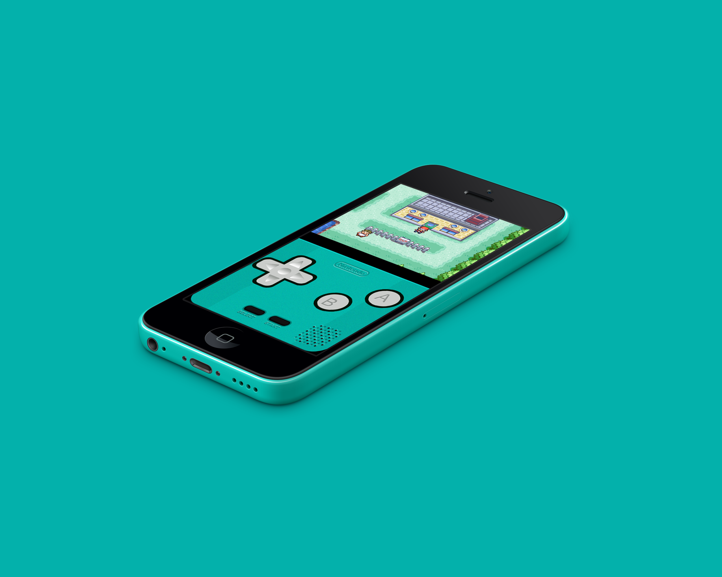 Good Wallpapers For Iphone 5c: IPhone 5c GBA Teal By Vitalovitalo On DeviantArt