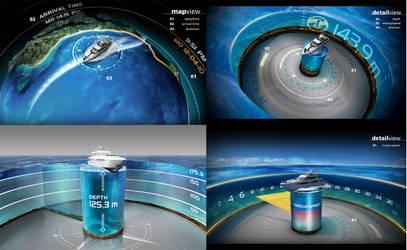 3D Boat Information Screen 3
