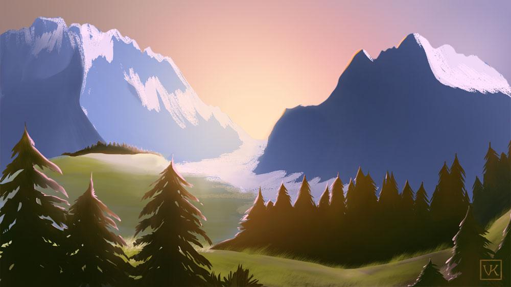 Mountains by VeronicaKosowski