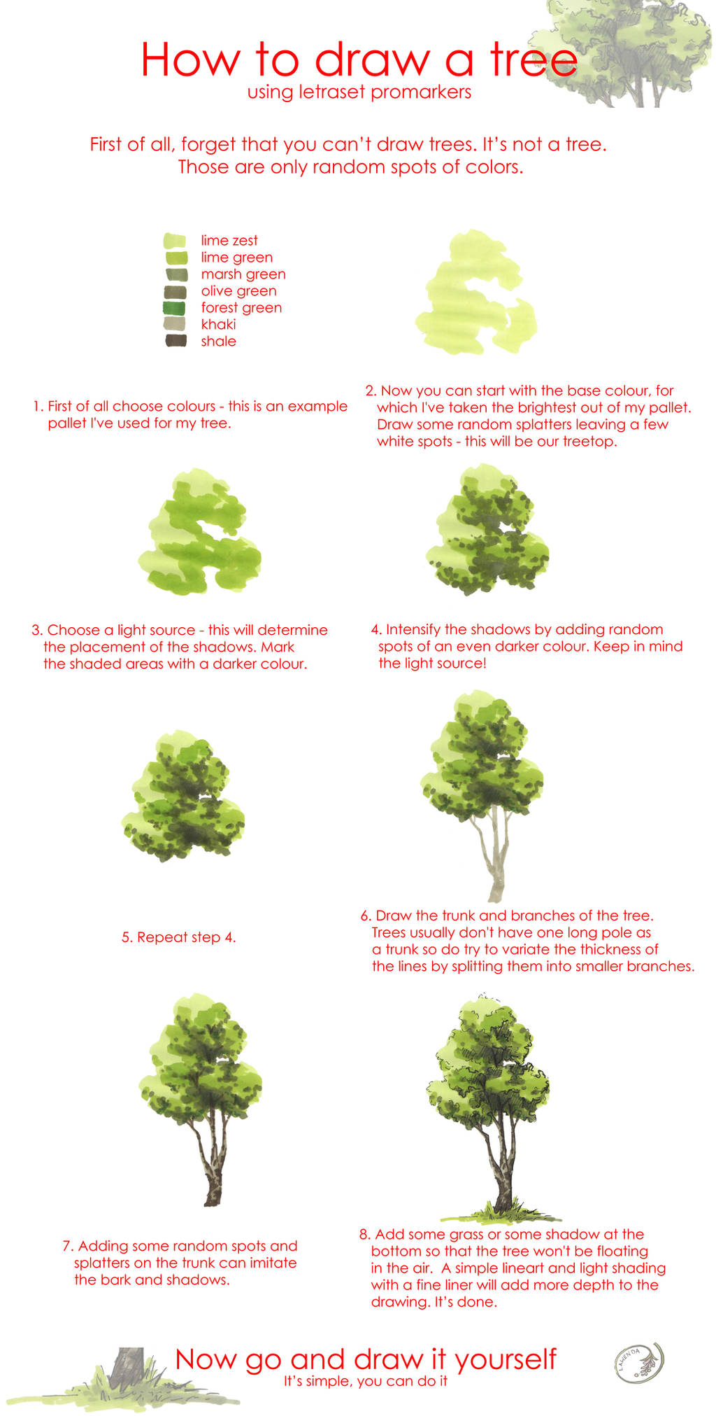 Tree drawing tutorial by Morpho-Deidamia