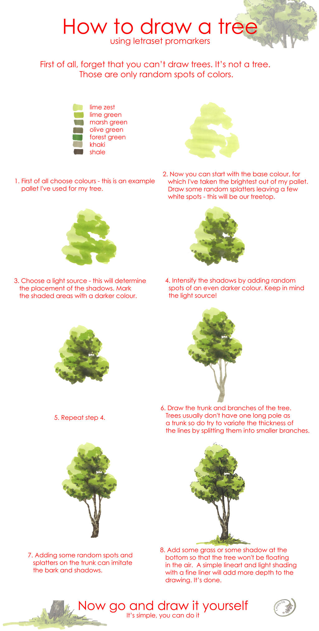Tree drawing tutorial by Morpho-Deidamia