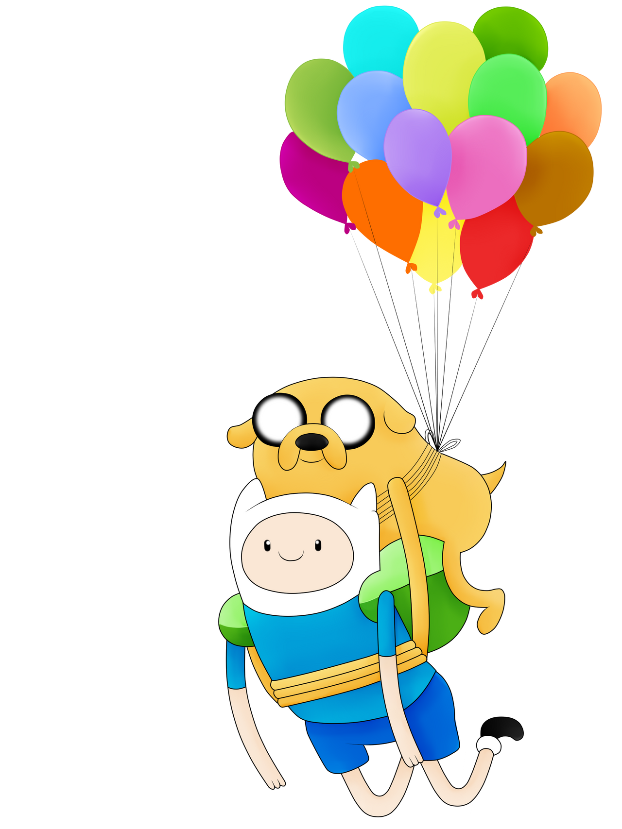 adventure time finn and jake ballons fly by andyeahFTW on deviantART