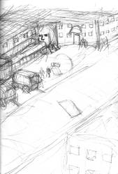 Urban Wasteland Concept Sketch - Pixel Brutalism 3 by ForgottenDemigod