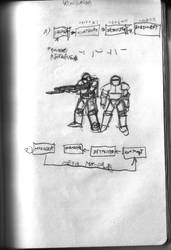Mars 2050 Concept Sketch - Power Armour 1 by ForgottenDemigod