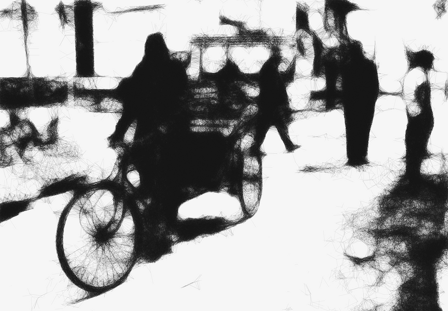 Geometrics of City Life #14 - Bazaar by siddhartha19