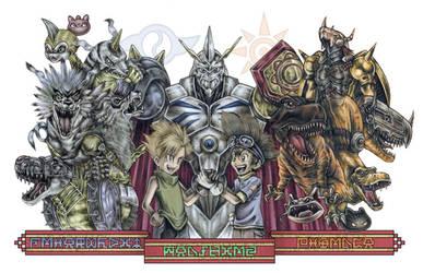 Digimon 'Teamwork' by Soapfish-Art
