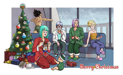 Capsule Corps Christmas by Soapfish-Art
