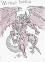 Red Dragon Archfiend sketch by MissKilvas