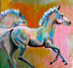 the running of horses as rainbows, scott richard