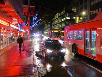 mission street on a rainy night, scott richard