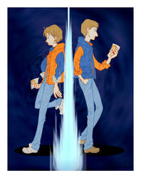 Marty McFly and Rory Williams by CeeNot