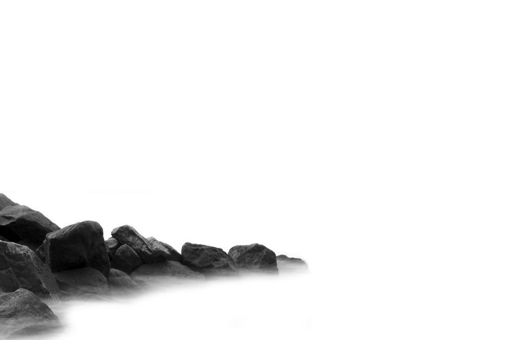 Rocks In White by JayceRan