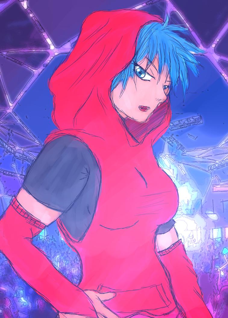 Colored Punk Girl by JayceRan