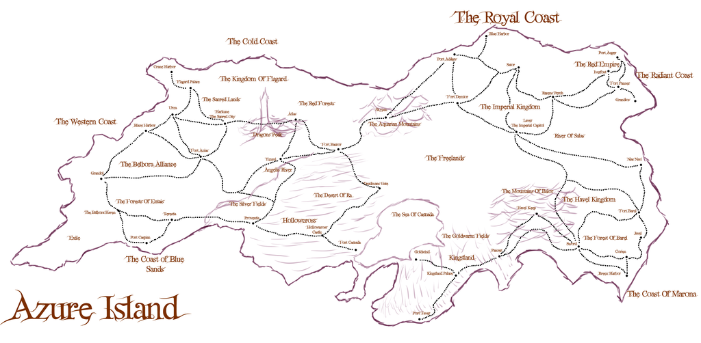 Lyorta: Map Of Azure Concept Art by JayceRan