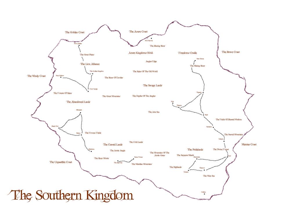Lyorta: The Southern Kingdom Map Concept by JayceRan