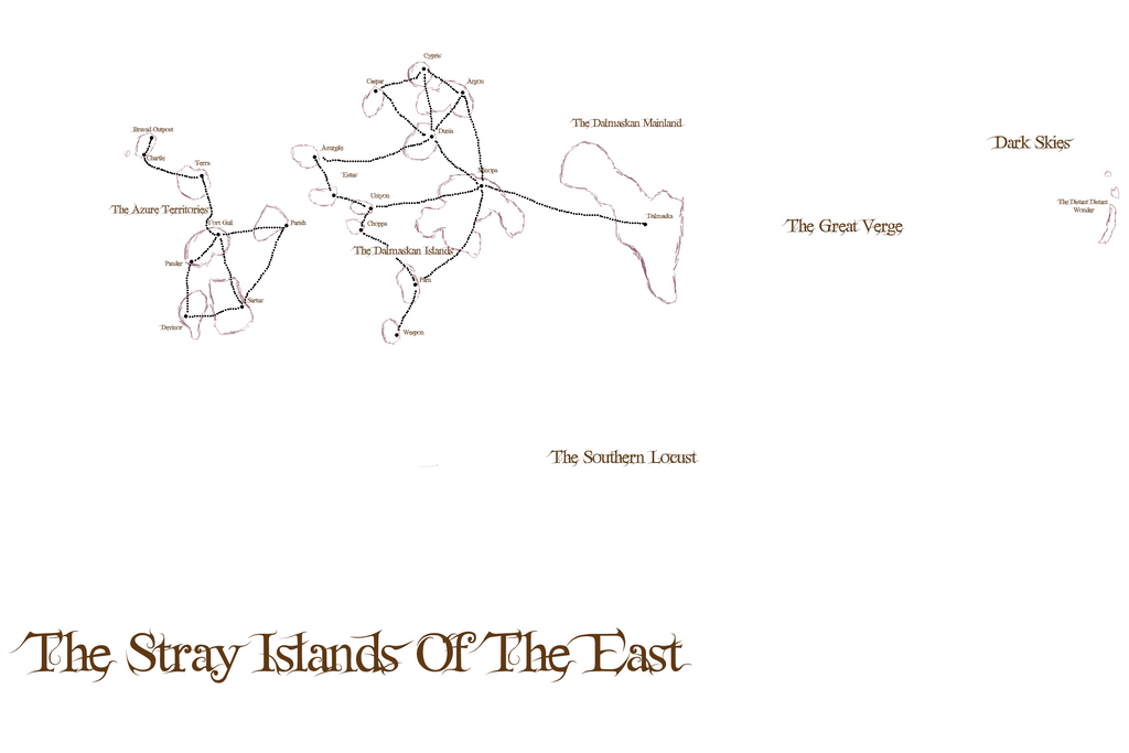 Eastern Stray Islands Map Concept Art by JayceRan