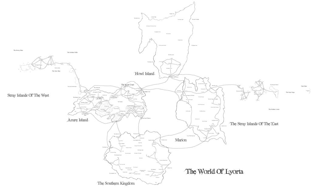 The World Of Lyorta Map by JayceRan