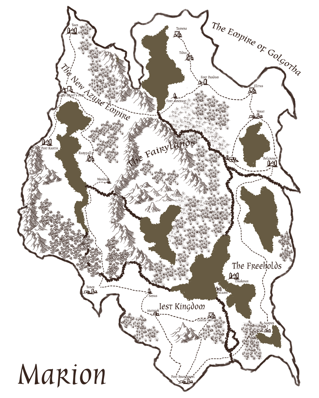 Map Of Marion by JayceRan