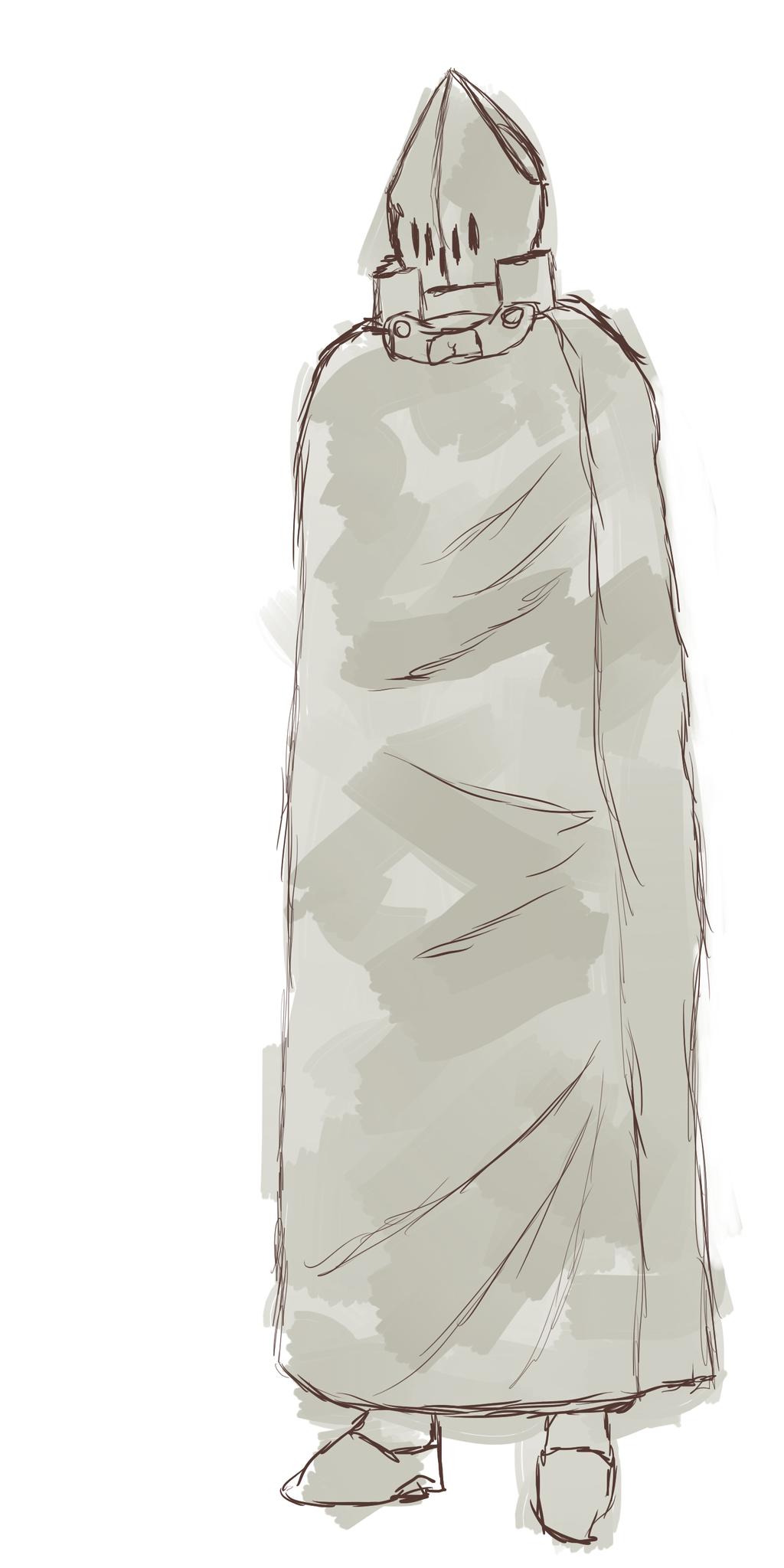Lyorta Concept Art: Azurian Air Guard With Cloak by JayceRan