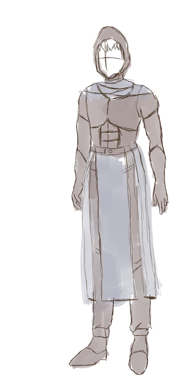 Lyorta Concept Art Azurian Air Guard Without Cloak by JayceRan
