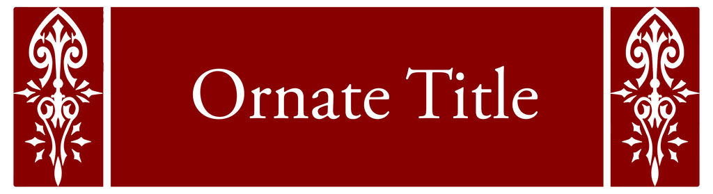 Ornate Title Template For Lyorta by JayceRan