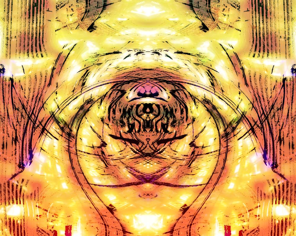 Digital Steel Golden Light by JayceRan