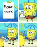 Homework Spongebob Meme