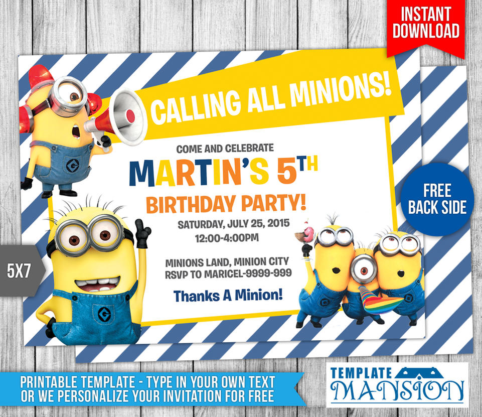 Minions birthday invitation 7 by templatemansion on deviantart minions birthday invitation 7 by templatemansion stopboris Gallery