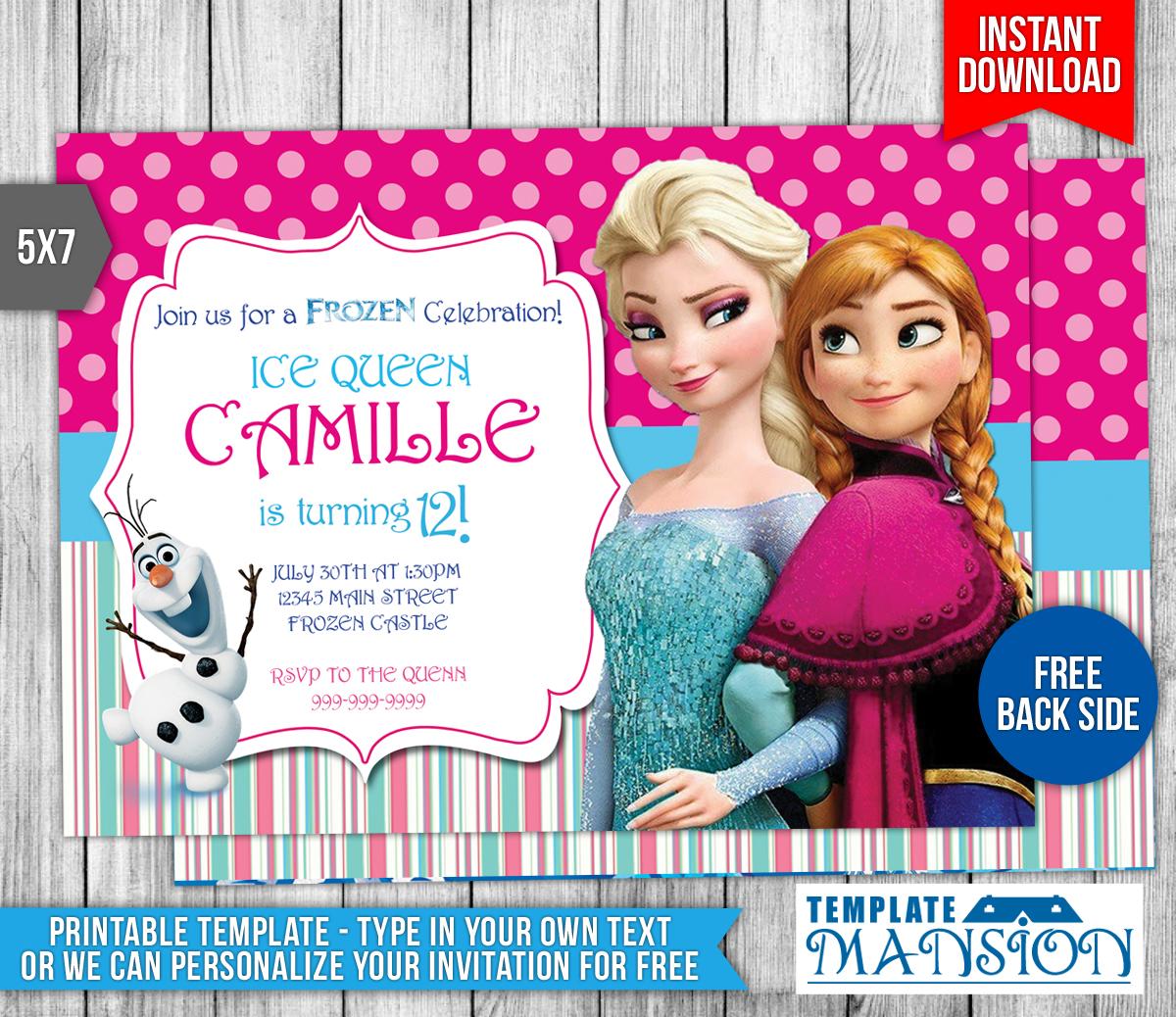 Disney Frozen Birthday Invitation 2 By Templatemansion On DeviantArt