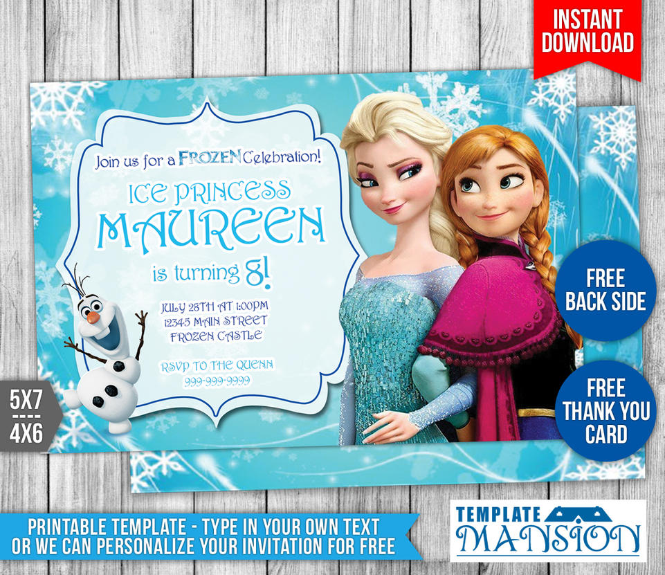 Disney Frozen Birthday Invitation #1 by templatemansion on DeviantArt