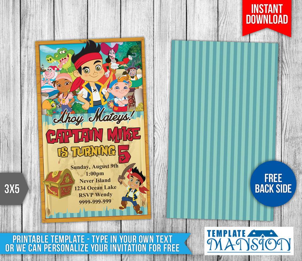 Jake and the NeverLand Pirates Birthday Invitation by – Jake and the Neverland Pirates Birthday Invitation Template