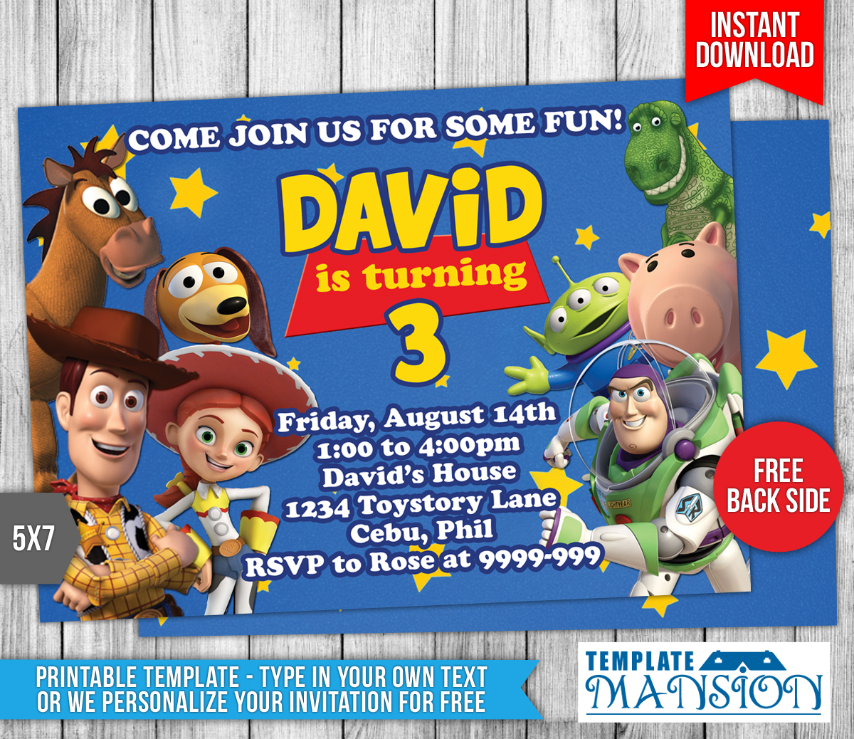 Toy story birthday invitation 1 by templatemansion on for Toy story invites templates free