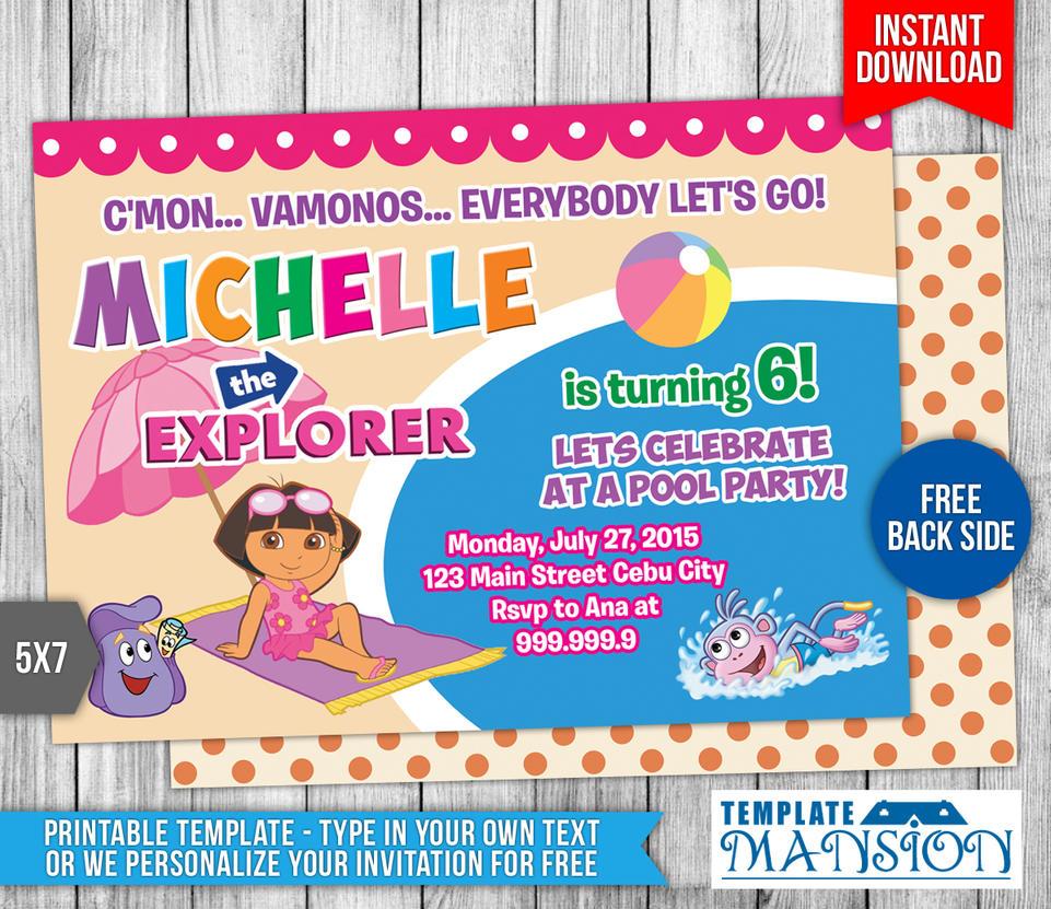 Dora the Explorer Birthday Invitation #2 by templatemansion on ...