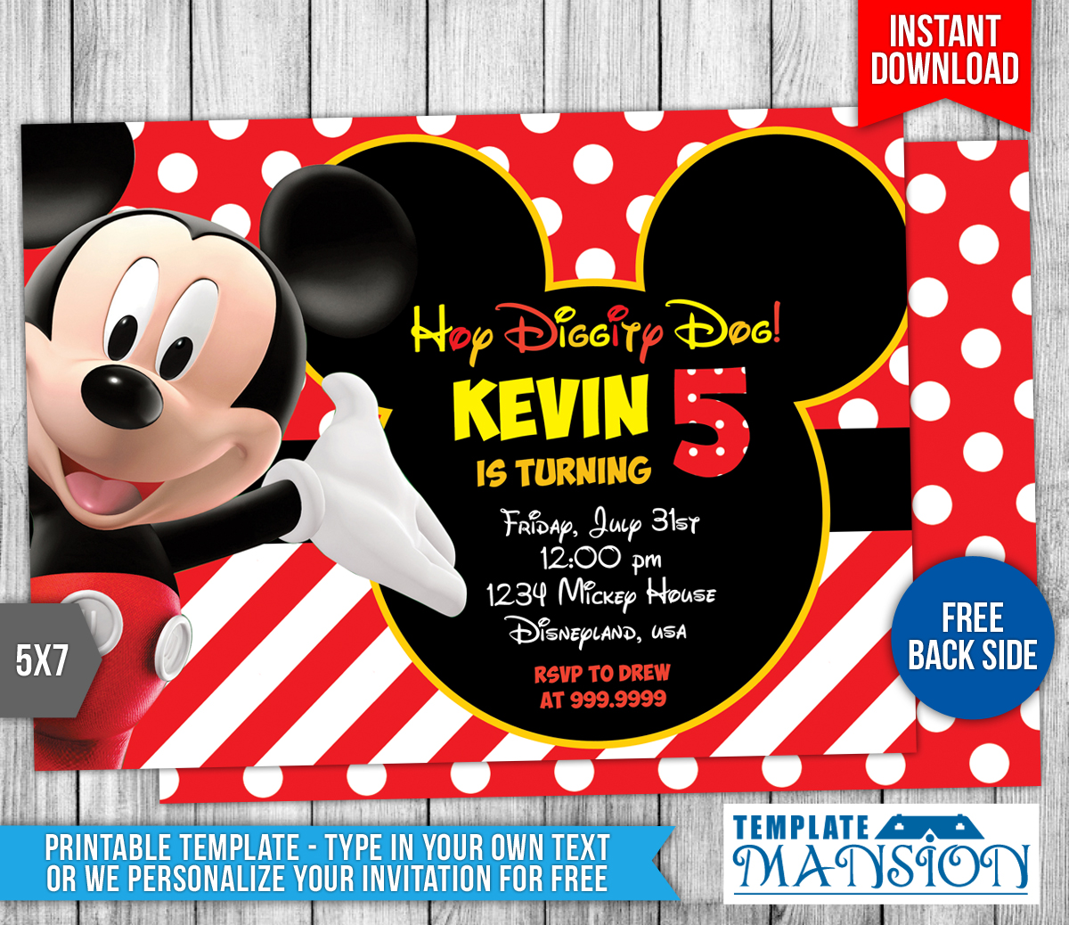 Mickey Mouse Clubhouse Birthday Invitation by templatemansion on – Mickey Mouse Clubhouse Birthday Invites