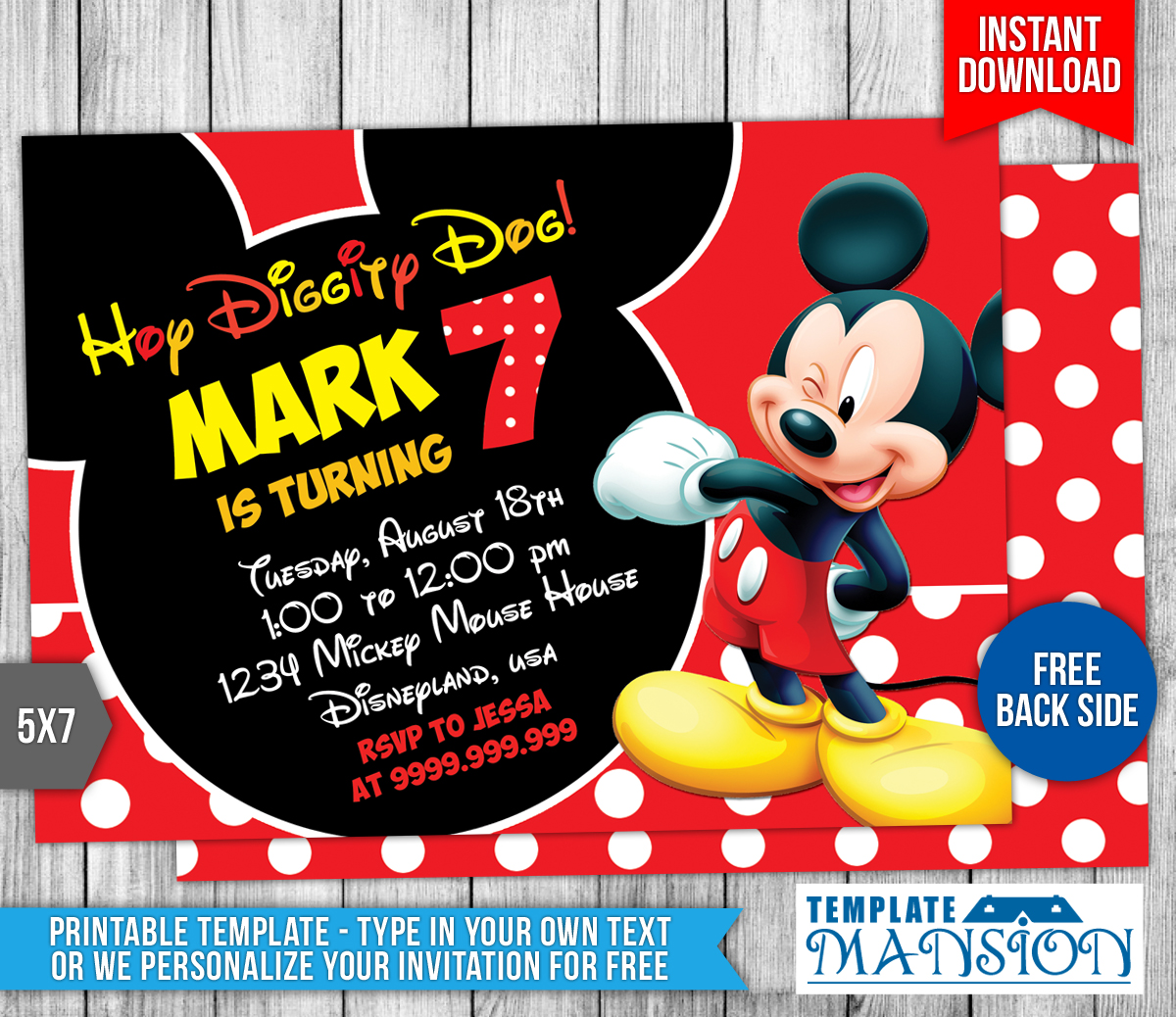 Mickey mouse birthday invitation 4 by templatemansion on deviantart mickey mouse birthday invitation 4 by templatemansion filmwisefo
