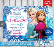 Disney Frozen Birthday Invitation by templatemansion