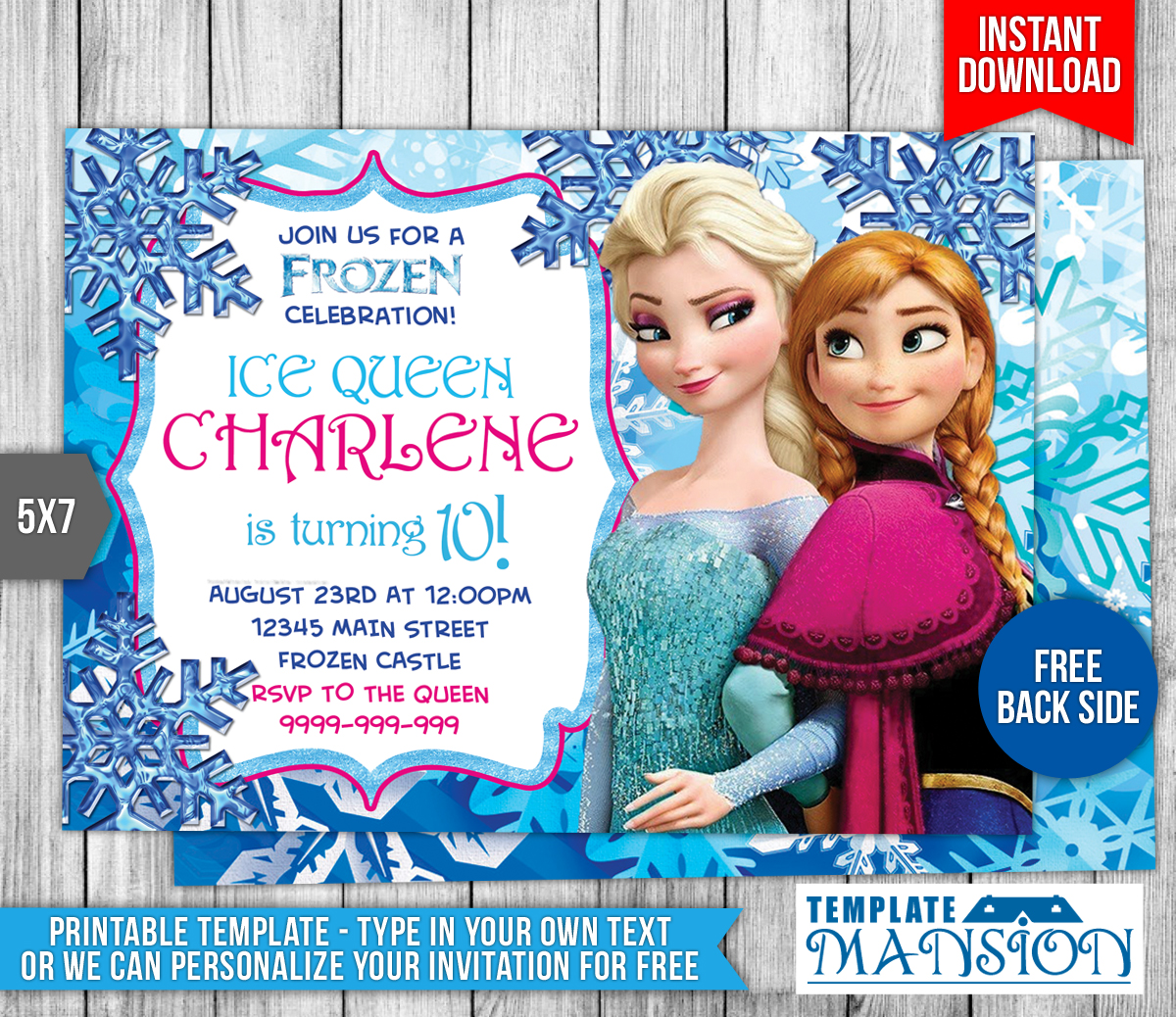 Disney Frozen Birthday Invitation by templatemansion on DeviantArt