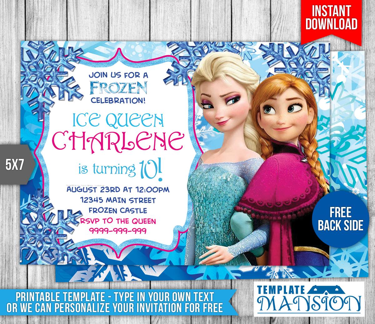 Disney Frozen Birthday Invitation By Templatemansion On