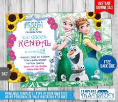 Disney Frozen Fever Birthday Invitation by templatemansion