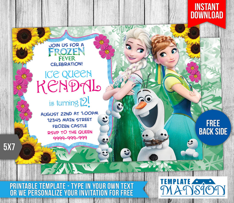 Disney Frozen Fever Birthday Invitation by templatemansion on DeviantArt