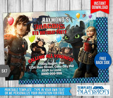 How To Train Your Dragon Birthday Invitation #1 by templatemansion