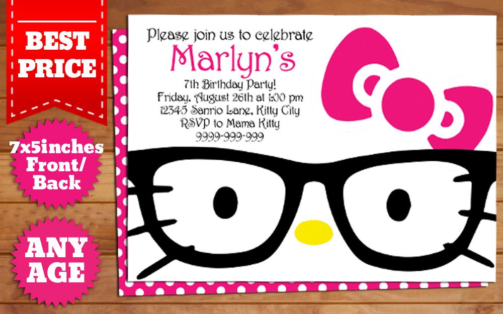 download hello kitty nerd birthday invitation by templatemansion on