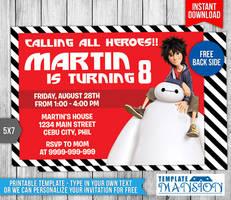 Big Hero 6 Birthday Invitation #1 by templatemansion