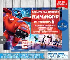 Big Hero 6 Birthday Invitation #2 by templatemansion